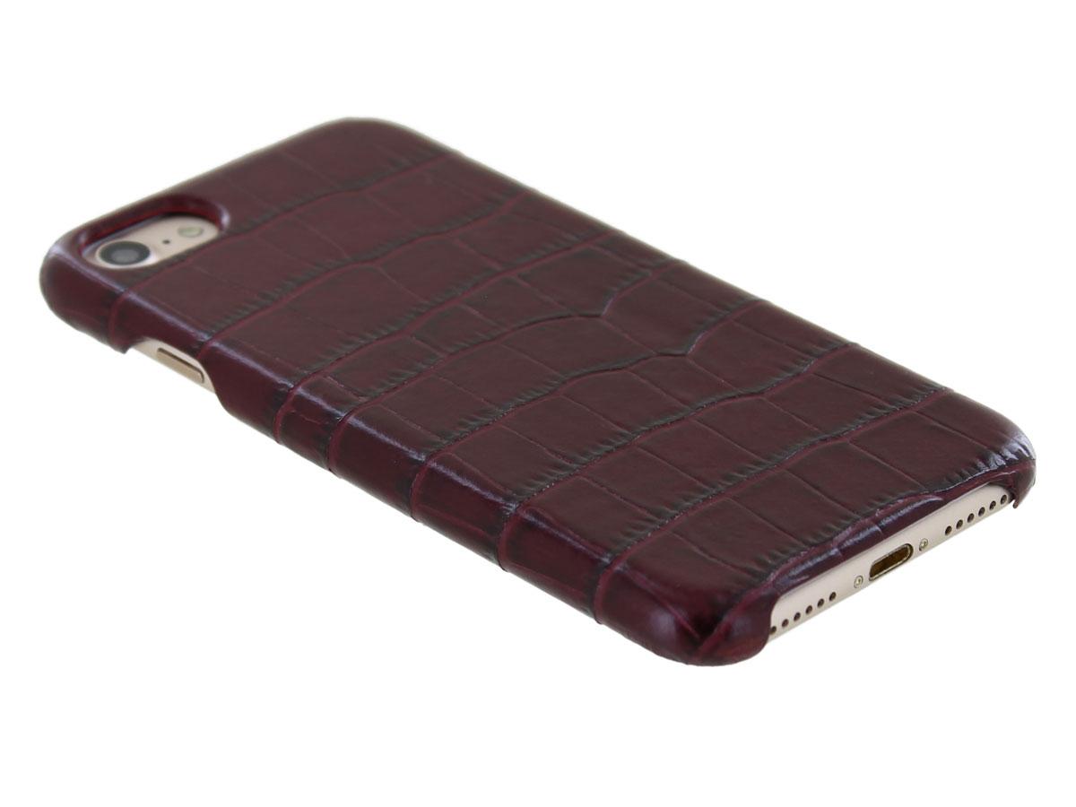 Graffi Cover Croco Bordeaux Leer - iPhone SE 2020 / 8 / 7 / 6(s) hoesje