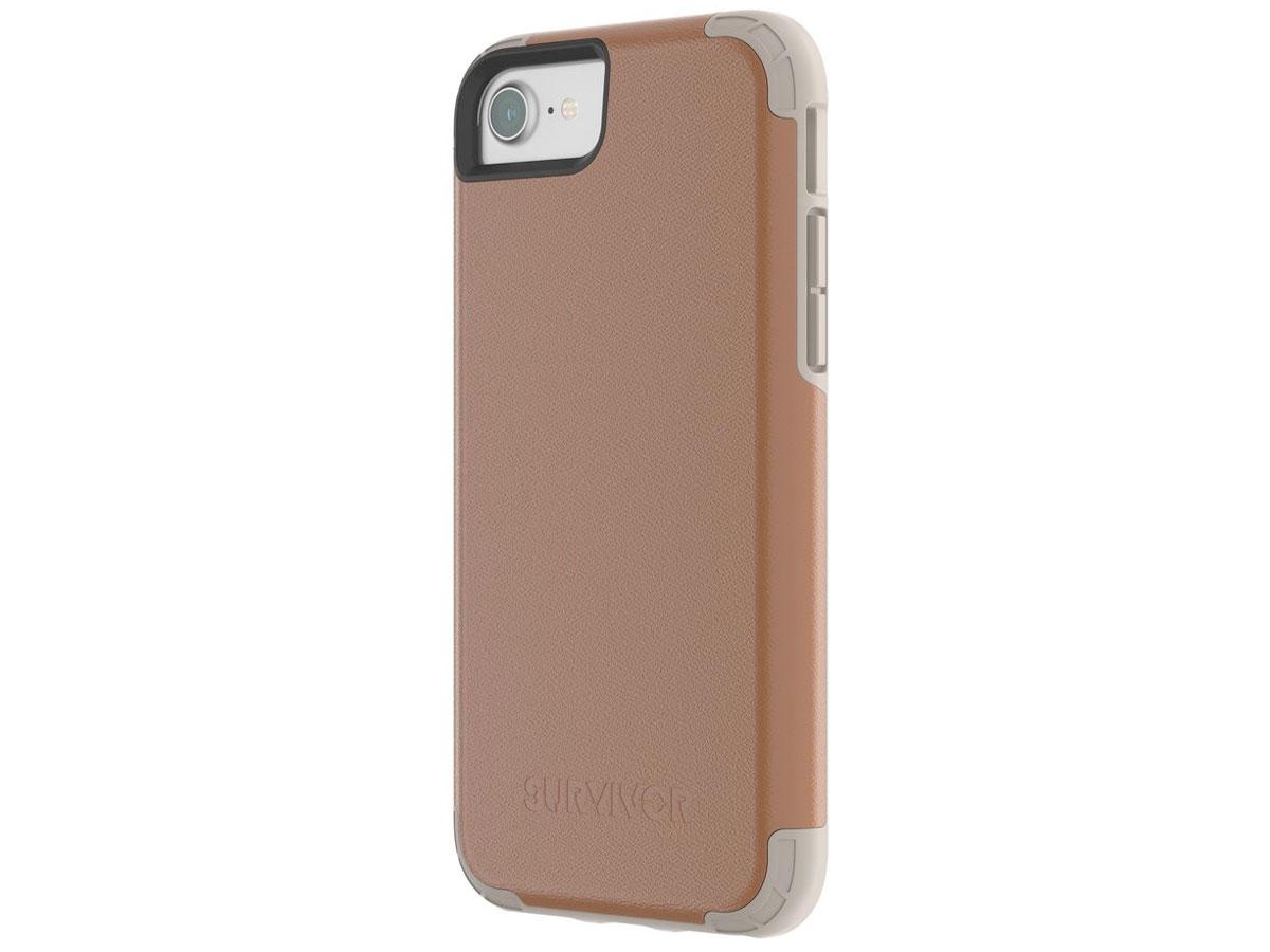 Griffin Survivor Prime Leather Case - iPhone SE 2020 / 8 / 7 / 6(s) hoesje Bruin