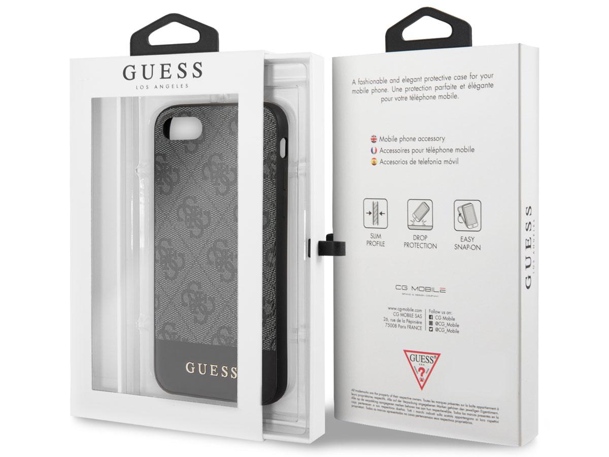 Guess 4G Monogram Case Grijs - iPhone SE 2020 / 8 / 7 / 6 hoesje