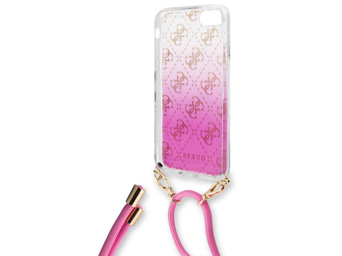 Guess 4G Necklace Case Roze - iPhone SE 2020 / 8 / 7 / 6 hoesje