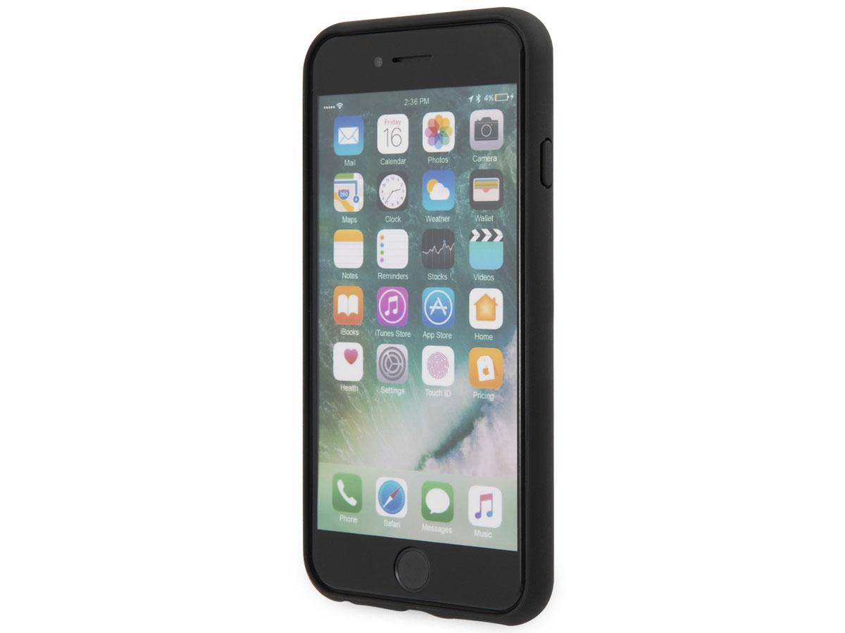 Guess Croco Case Zwart - iPhone SE 2020 / 8 / 7 / 6 hoesje