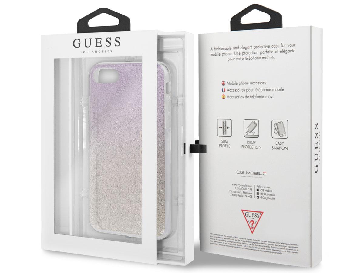 Guess Glitter TPU Case Gold Pink - iPhone SE 2020 / 8 / 7 / 6 hoesje