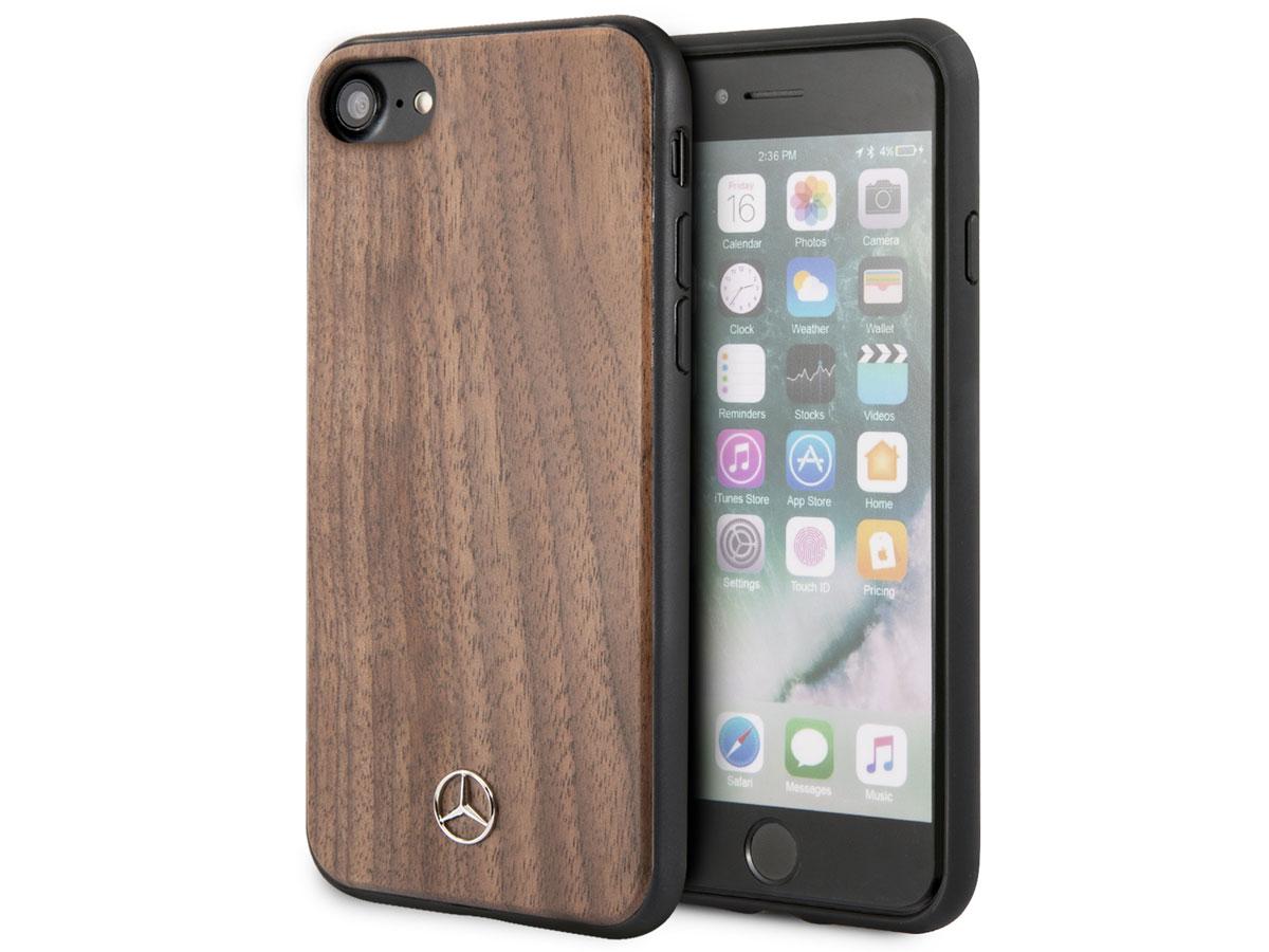 Mercedes-Benz Walnut Case - Houten iPhone SE 2020 hoesje