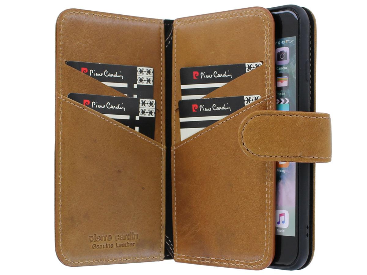 Pierre Cardin True Wallet Case Bruin - iPhone SE 2020/8/7 hoesje