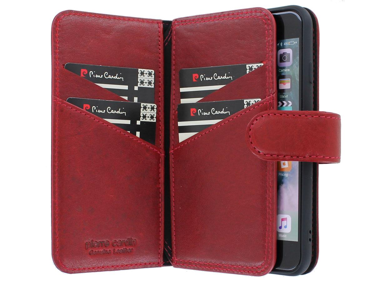 Pierre Cardin True Wallet Case Rood - iPhone SE 2020/8/7 hoesje