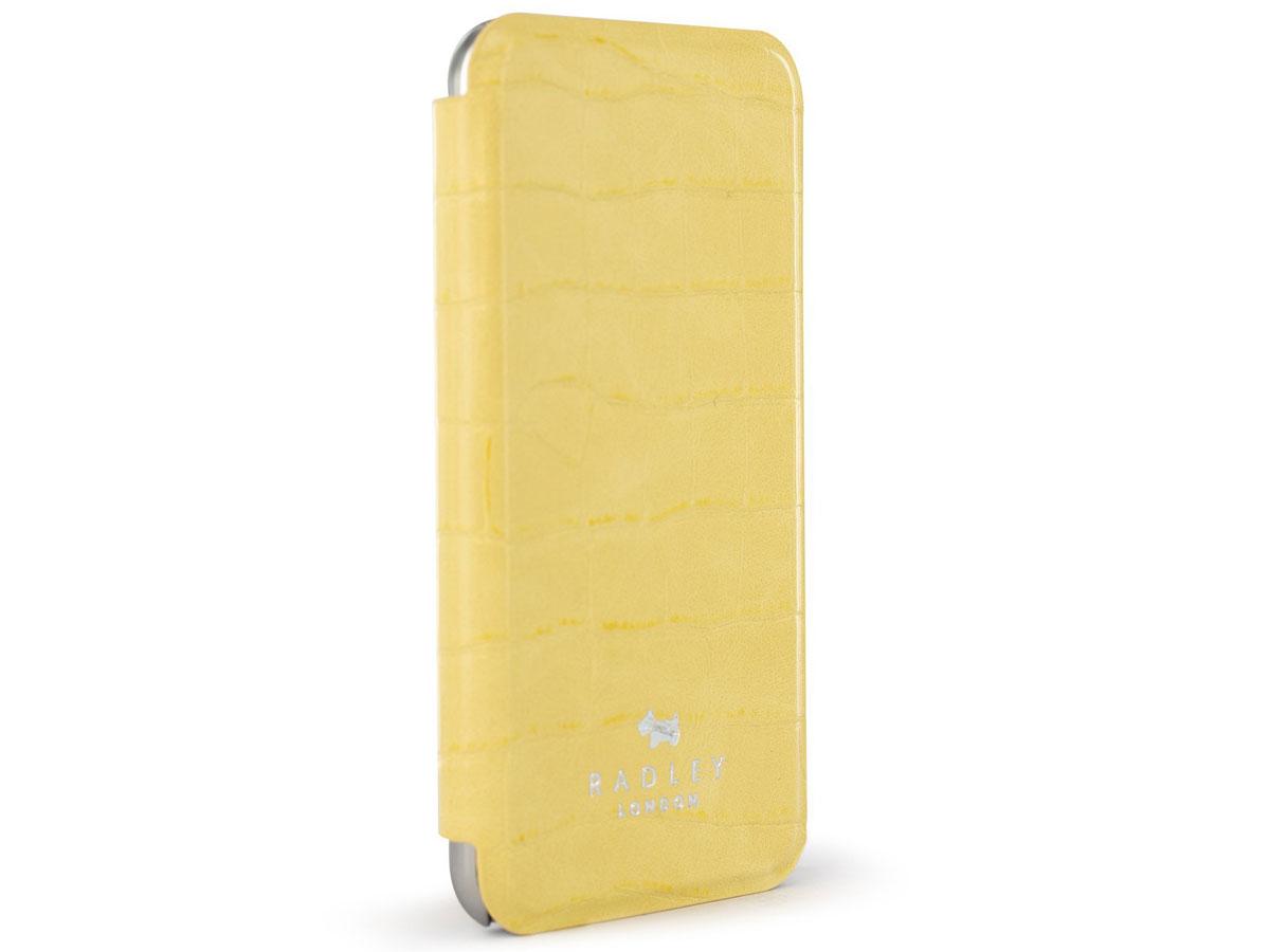 Radley Croco Folio Case Geel - iPhone SE 2020 / 8 / 7 / 6 Hoesje