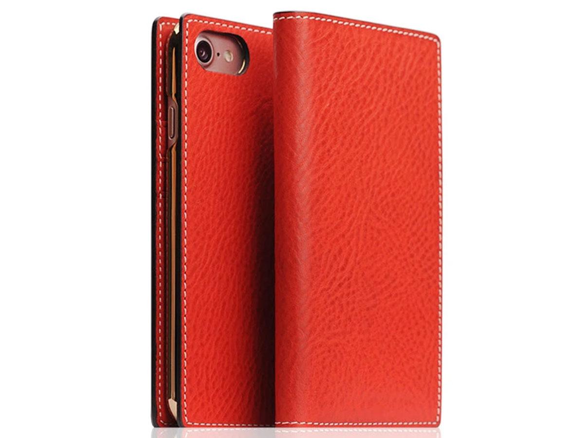 SLG Design D6 Minerva Leer Rood - iPhone SE 2020/8/7 hoesje