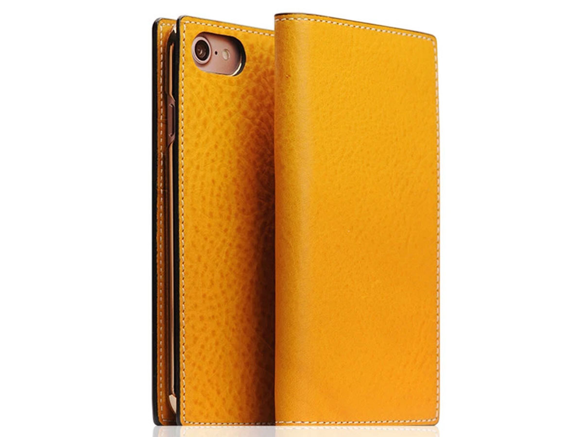 SLG Design D6 Minerva Leer Tan - iPhone SE 2020/8/7 hoesje