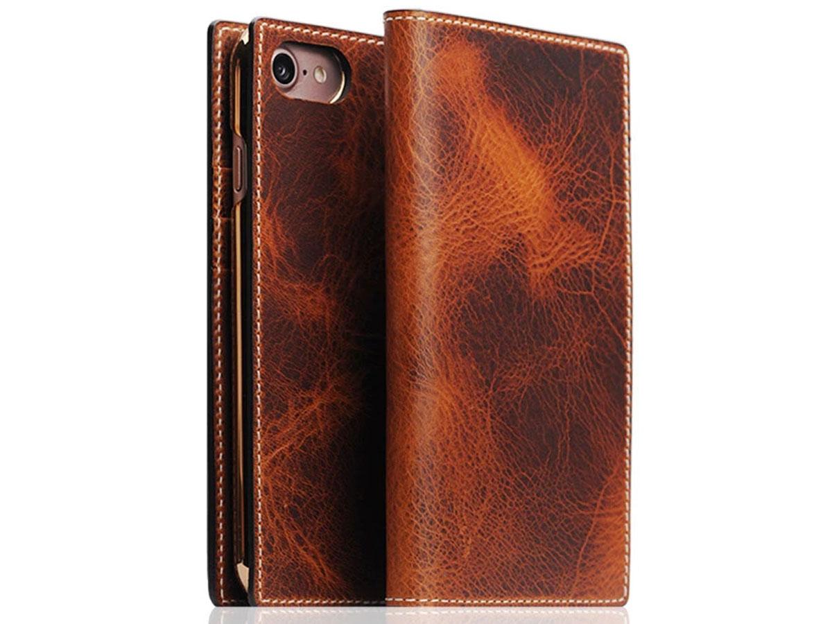 SLG Design D7 Italian Wax Leer Bruin - iPhone SE 2020/8/7 hoesje