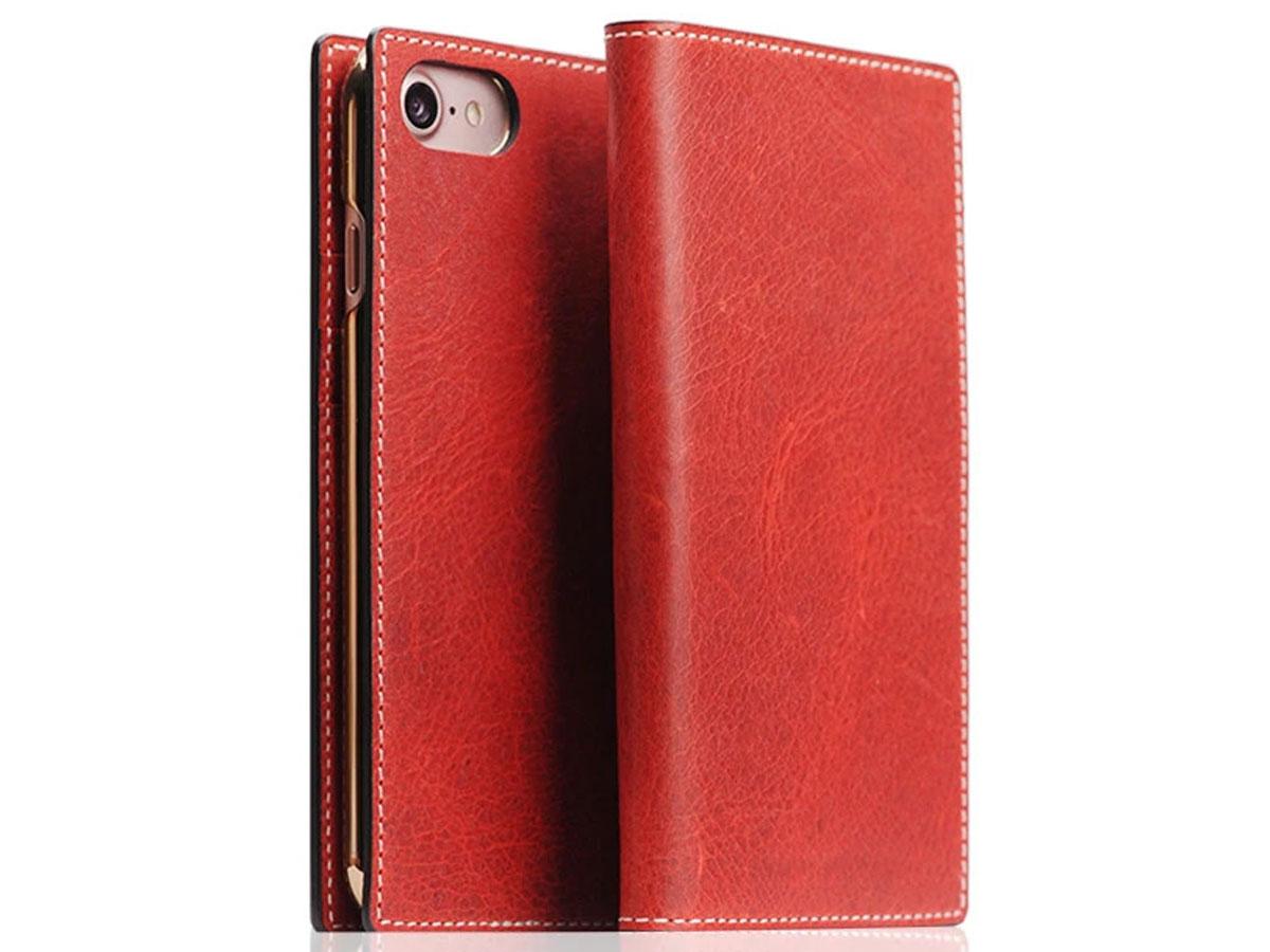 SLG Design D7 Italian Wax Leer Rood - iPhone SE 2020/8/7 hoesje