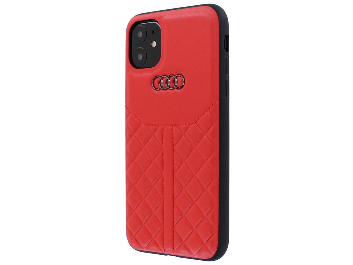 Audi Q8 Series Case Rood Leer - iPhone 11 hoesje