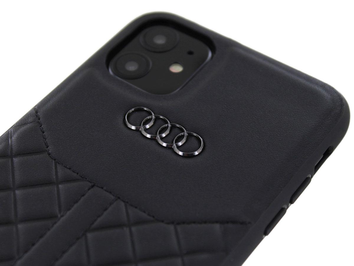 Audi Q8 Series Case Zwart Leer - iPhone 11 hoesje