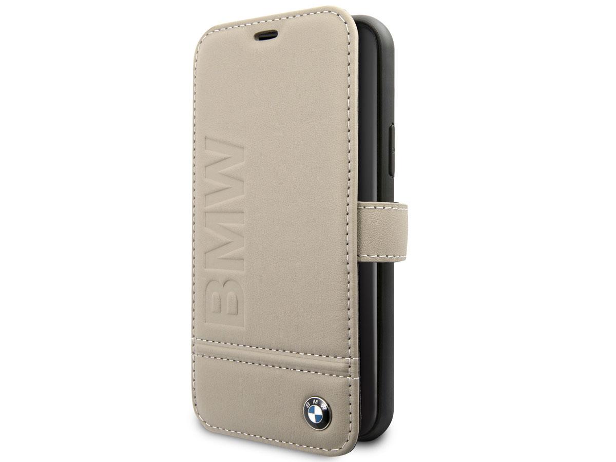 BMW Signature Bookcase Beige Leer - iPhone 11 hoesje