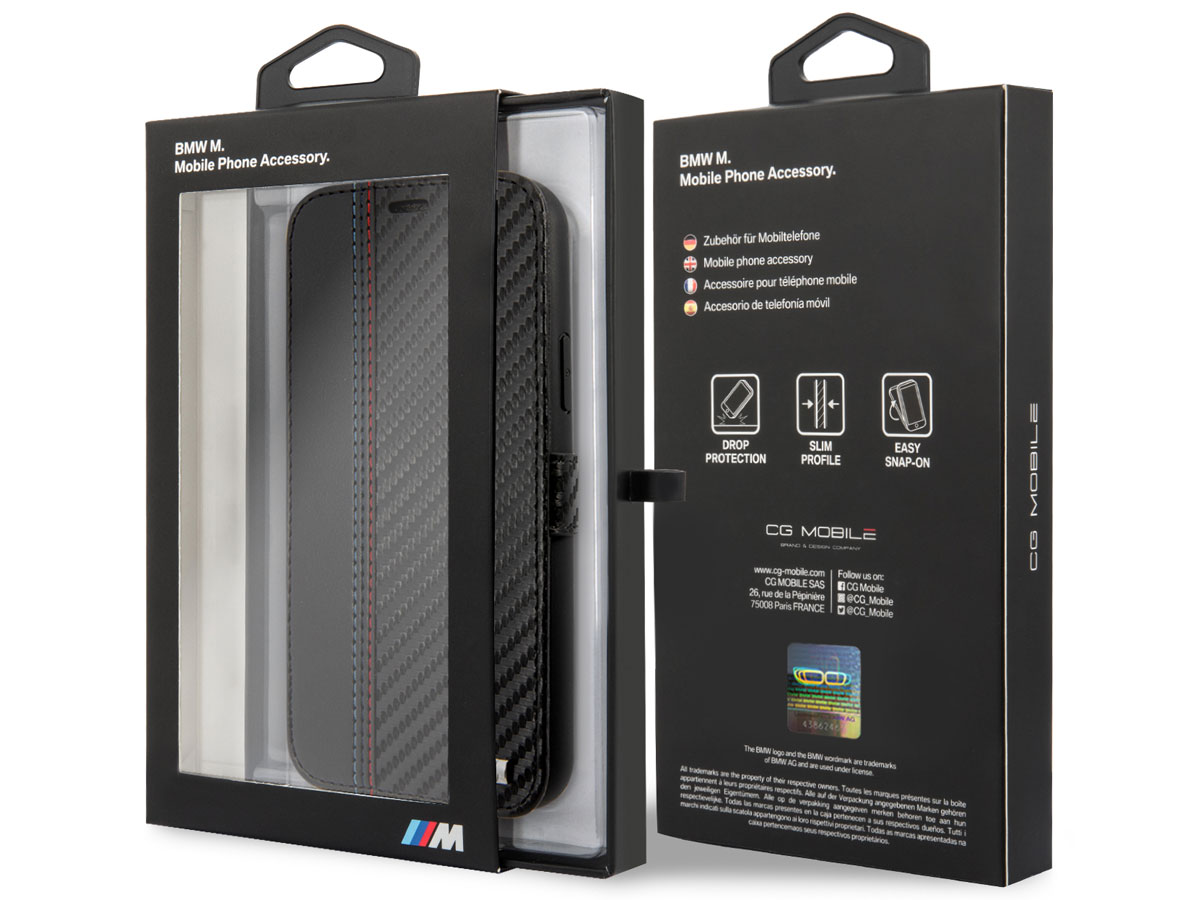 BMW M Sport Color Stitch Bookcase - iPhone 11 hoesje