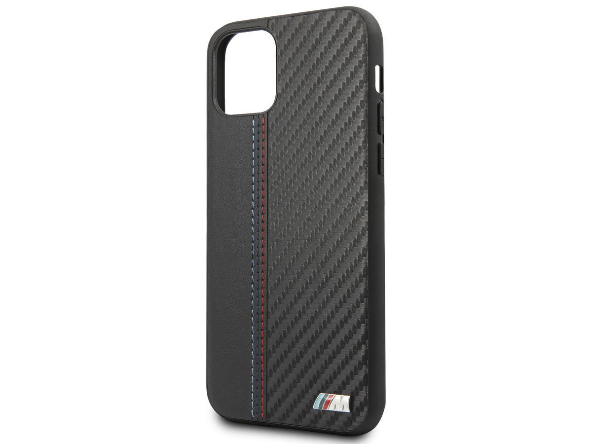 BMW M Sport Stitched Case Zwart - iPhone 11 hoesje