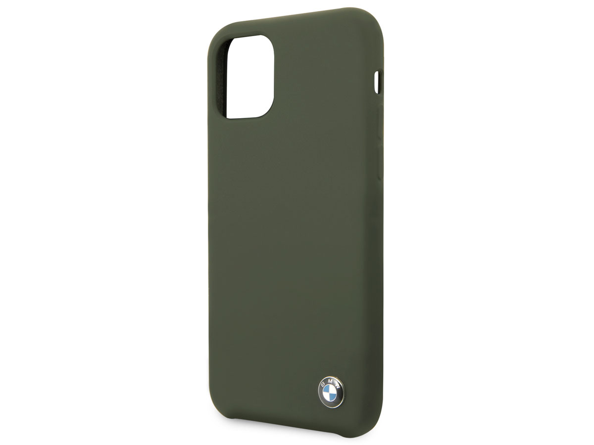BMW Signature Silicone Case Groen - iPhone 11 Hoesje