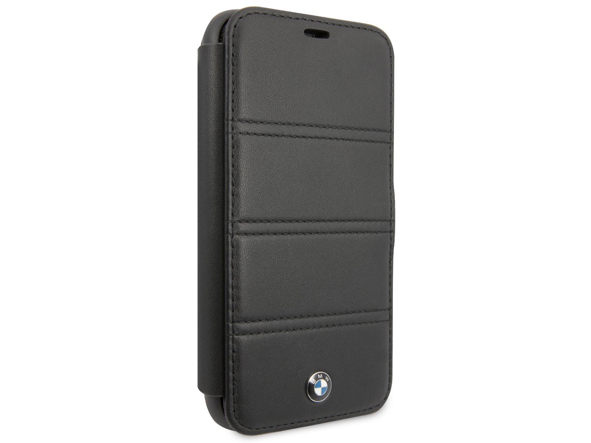 BMW Stitched Bookcase Zwart Leer - iPhone 11 hoesje