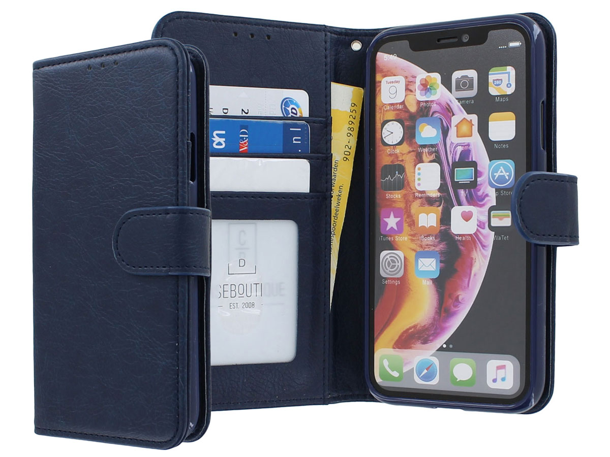 Classic Wallet BookCase Donkerblauw - iPhone 11/XR hoesje