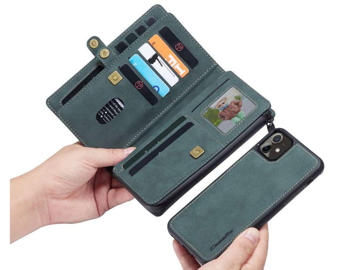 CaseMe Multi Wallet Ritsvak Case Blauw - iPhone 11/XR Hoesje