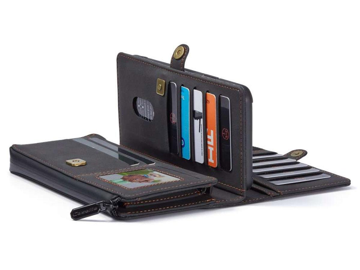 CaseMe Multi Wallet Ritsvak Case Zwart - iPhone 11/XR Hoesje