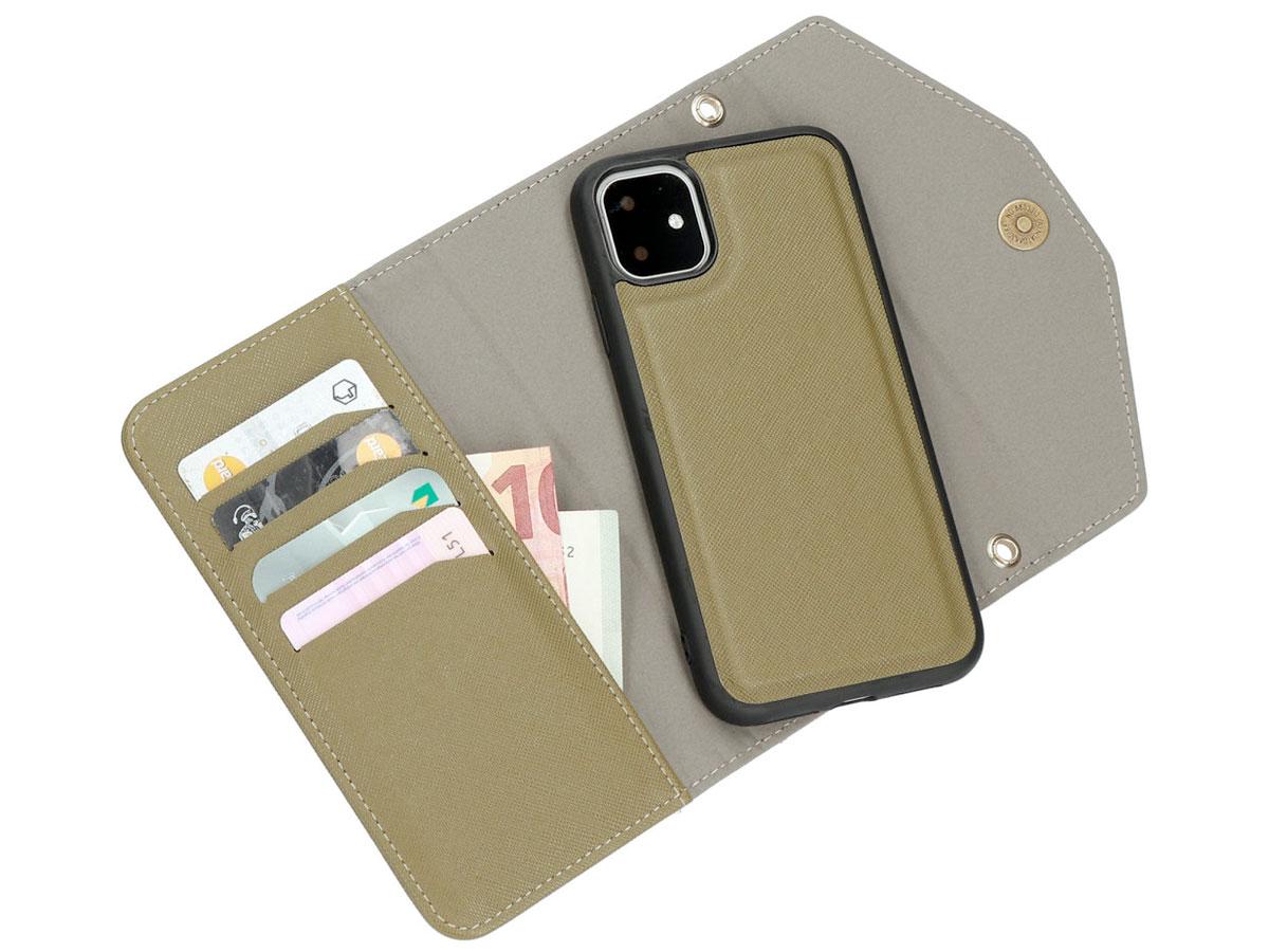 Casetastic Saffiano 2in1 Clutch Case Groen - iPhone 11/XR hoesje
