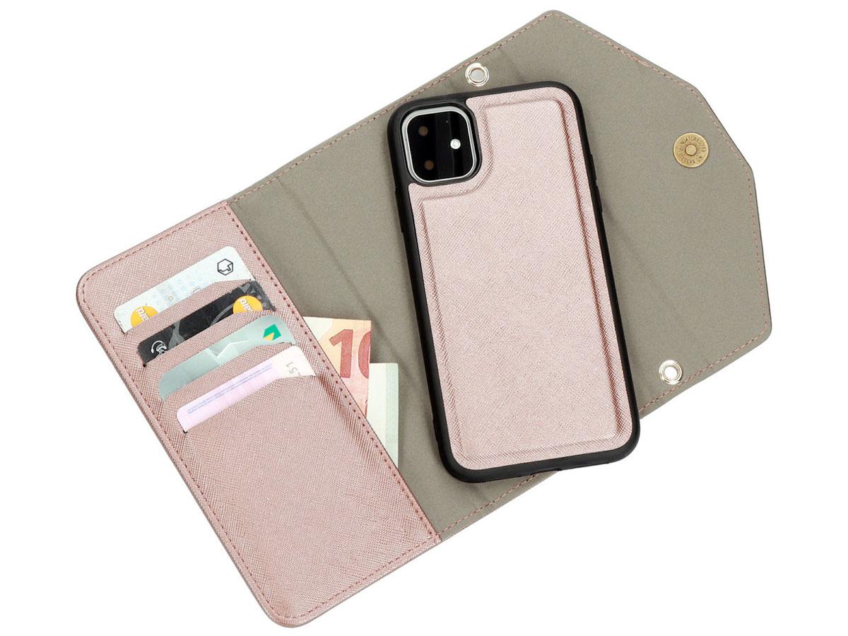Casetastic Saffiano 2in1 Clutch Case Rosé - iPhone 11/XR hoesje