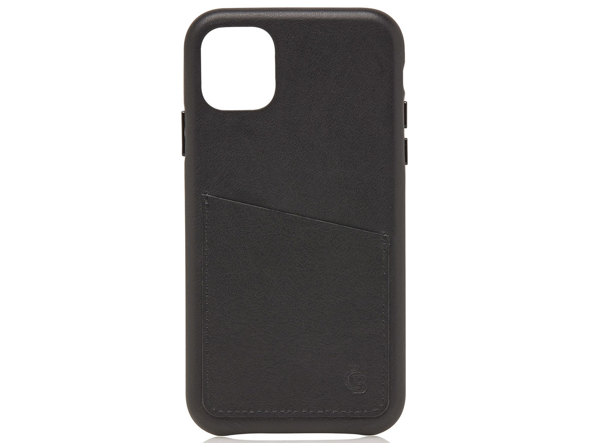 Castelijn & Beerens Back Case Zwart Leer - iPhone 11/XR hoesje