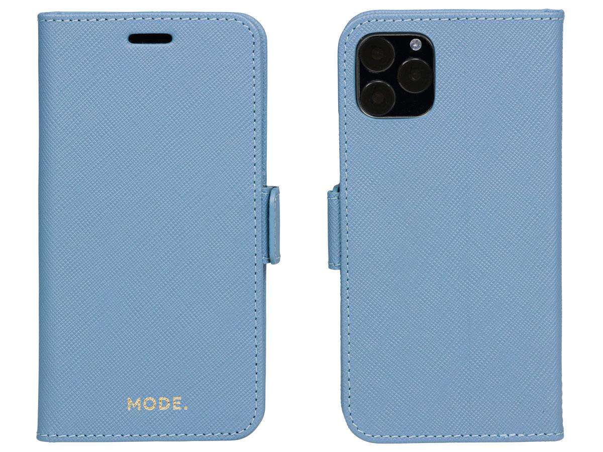 dbramante1928 MODE. Folio Blauw - iPhone XR Hoesje Leer