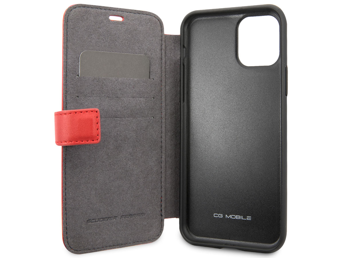 Ferrari Quilted Leather Folio Rood - iPhone 11/XR Hoesje