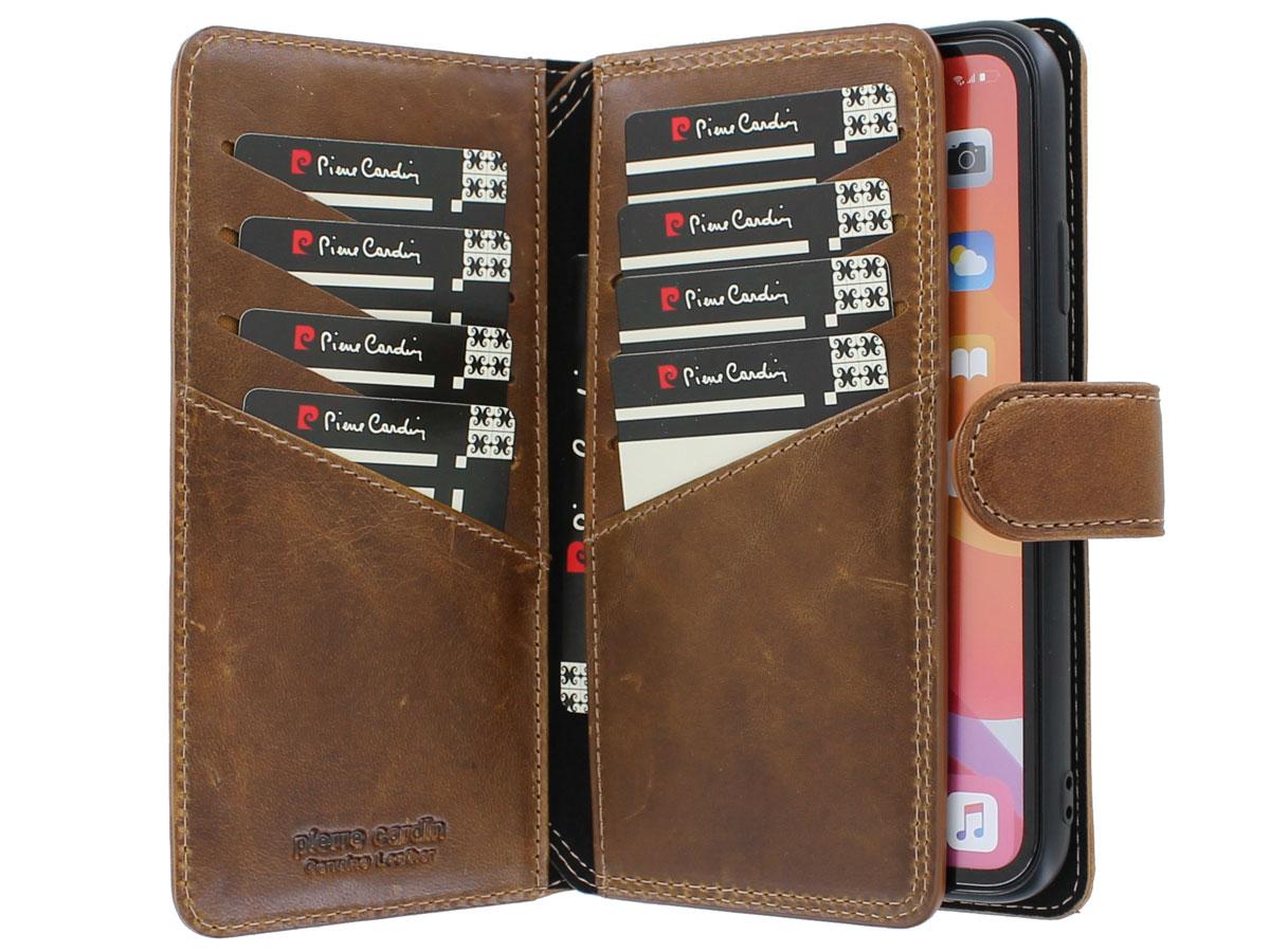 Pierre Cardin True Wallet Bruin Leer - iPhone XR hoesje