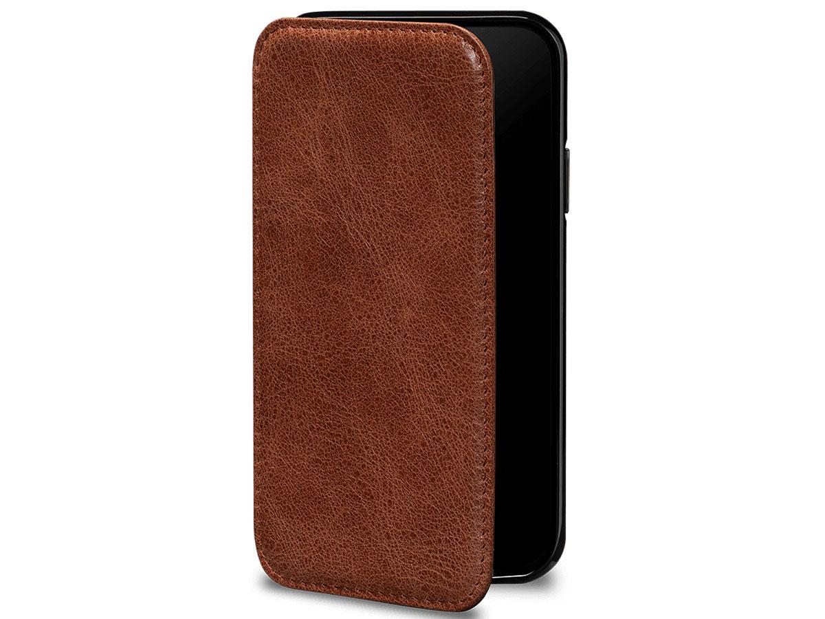 Sena Walletbook Cognac - iPhone 11 Hoesje Leer