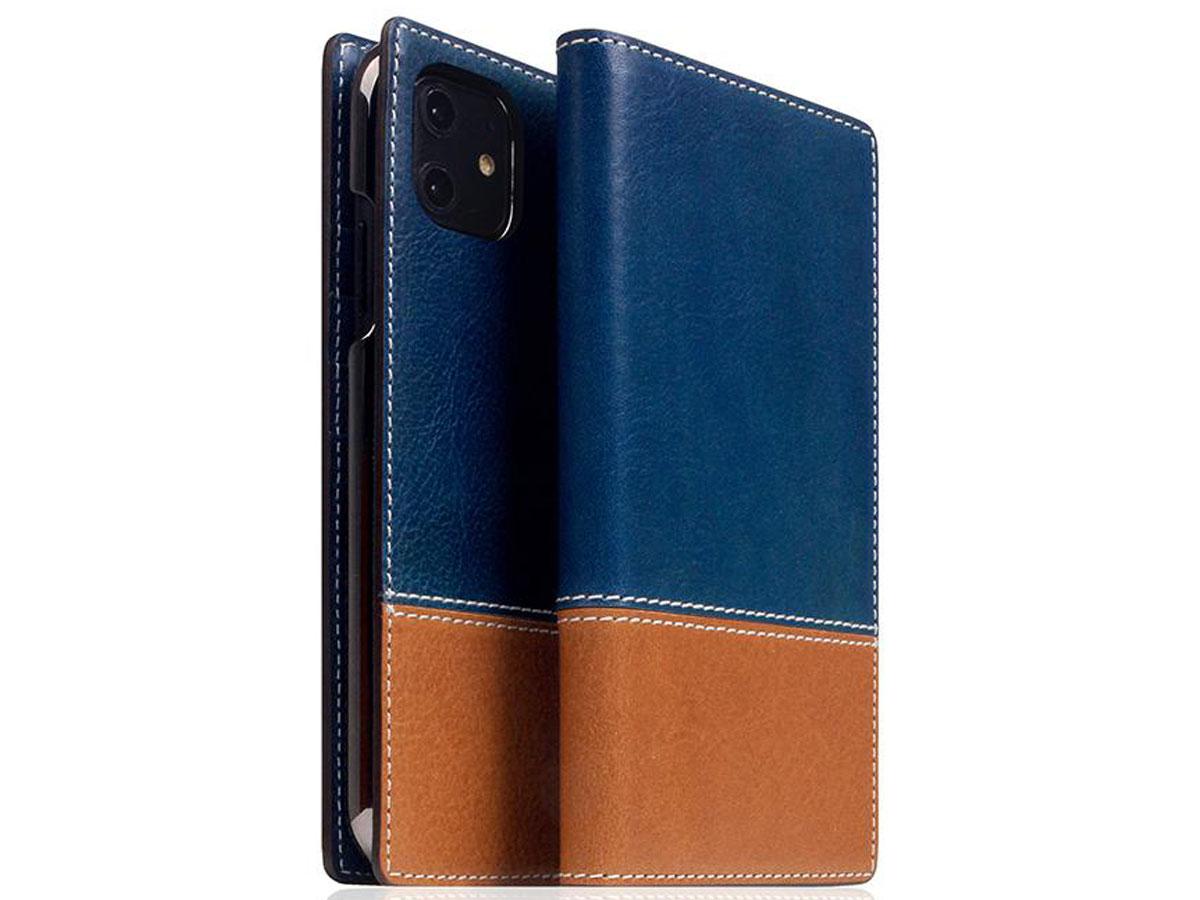 SLG Design D+ Temponata Bookcase Blauw - iPhone 11 hoesje