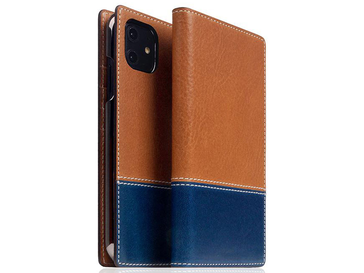 SLG Design D+ Temponata Bookcase Tan - iPhone 11 hoesje Cognac