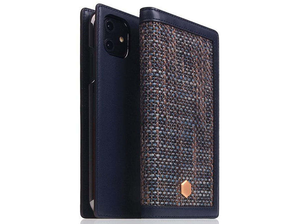 SLG Design D5 CSL Navy Leer - iPhone 11 hoesje Donkerblauw
