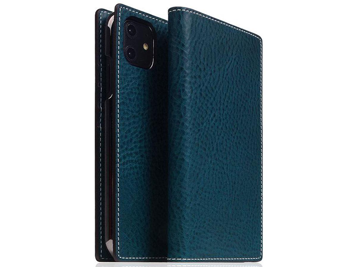 SLG Design D6 Minerva Bookcase Blauw - iPhone 11 hoesje