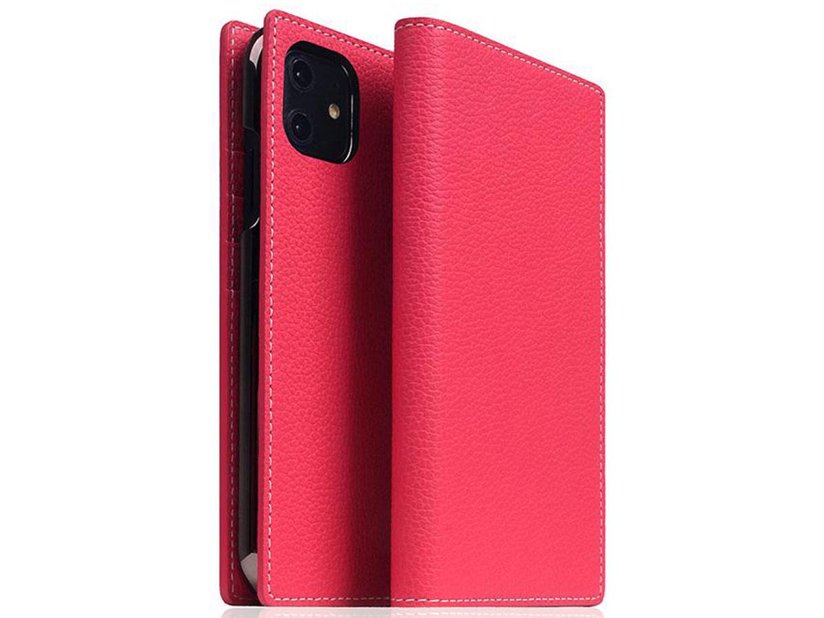 SLG Design D8 Folio Leer Pink Rose - iPhone 11 hoesje Fuchsia Roze