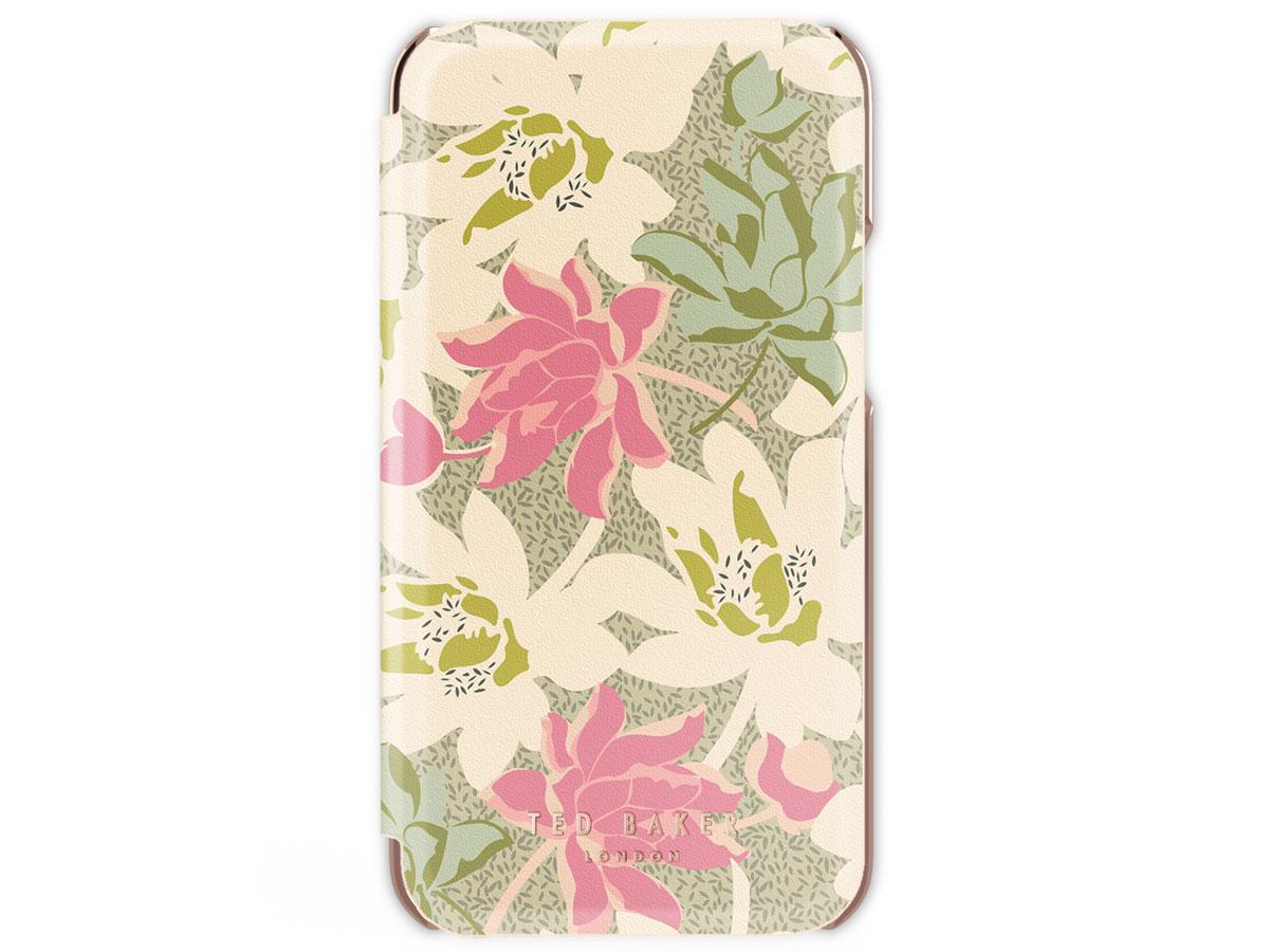 Ted Baker Cream Rose Folio Case - iPhone 11/XR hoesje Bloemen Print