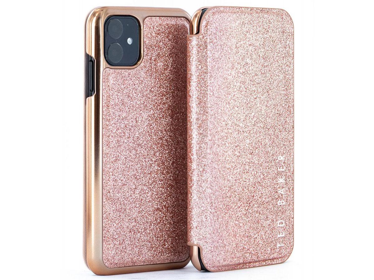Ted Baker Glitsie Folio Case - iPhone 11/XR Hoesje Rose goud