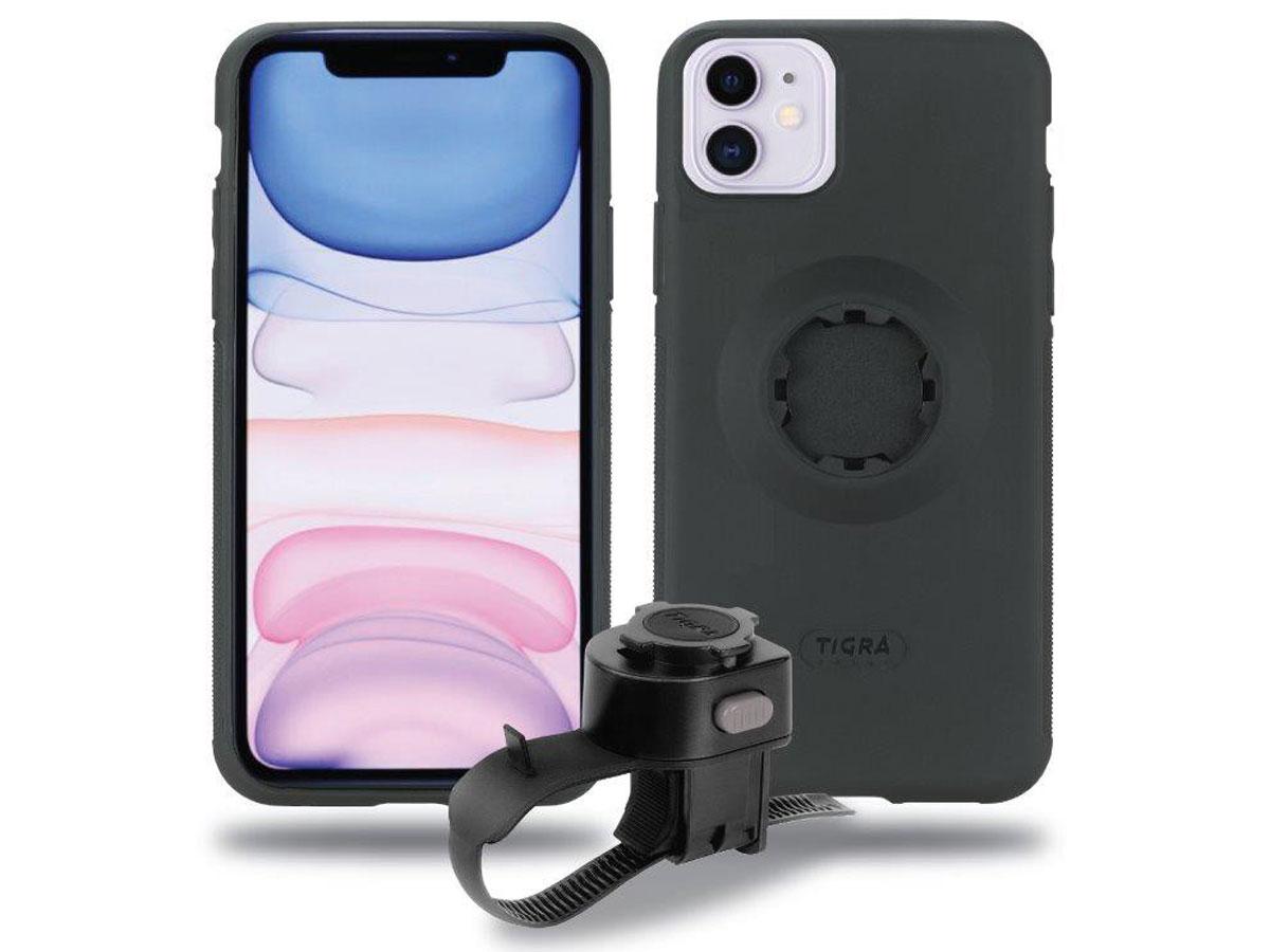 Tigra Fitclic MountCase Fietshouder voor iPhone 11 met Rain Guard