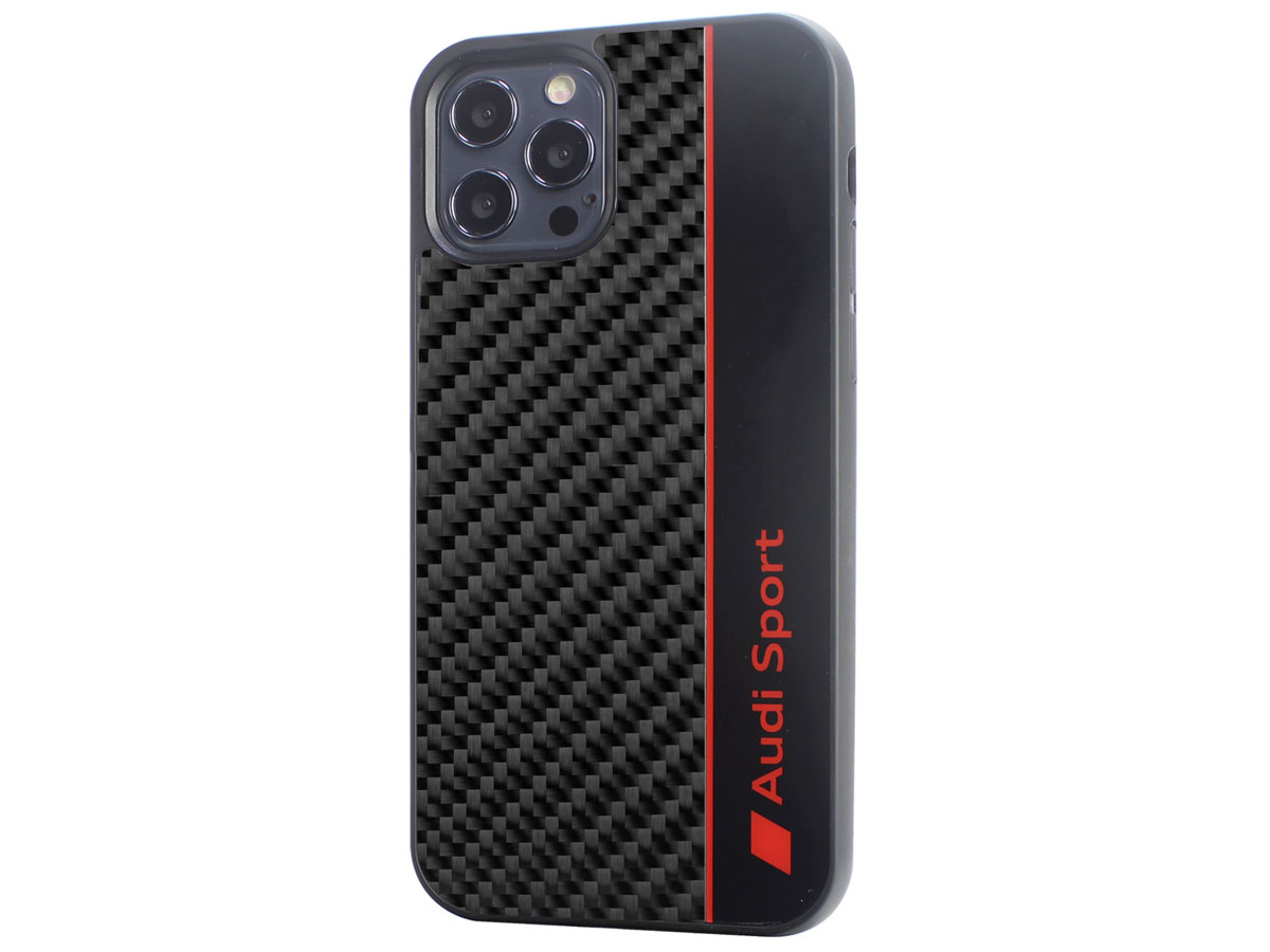 Audi R8 Series Carbon Case Zwart - iPhone 11 Pro hoesje
