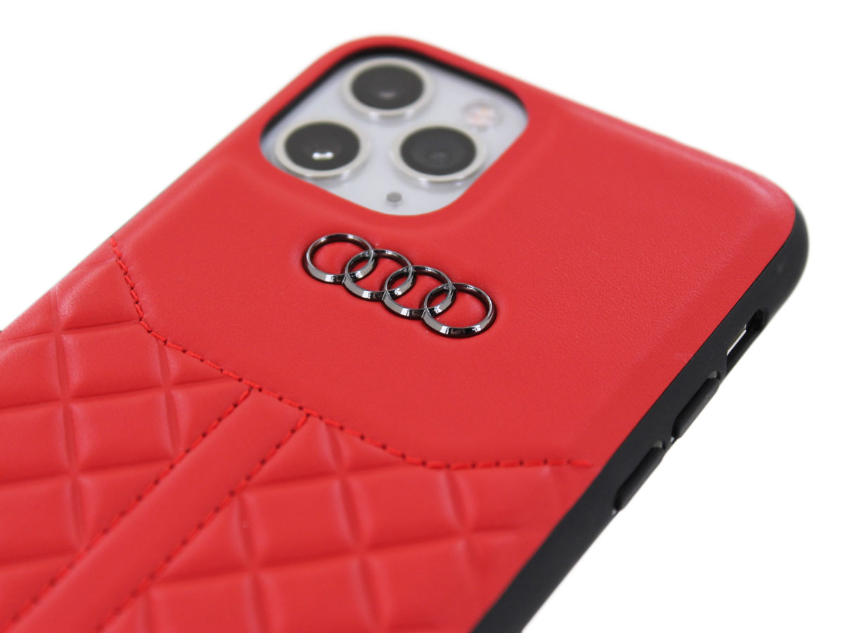 Audi Q8 Series Case Rood Leer - iPhone 11 Pro hoesje