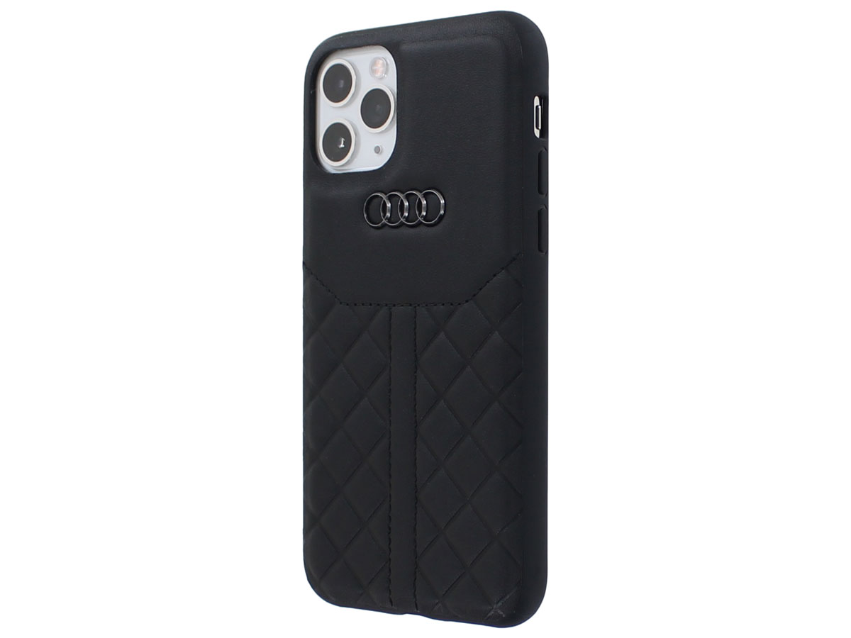 Audi Q8 Series Case Zwart Leer - iPhone 11 Pro hoesje
