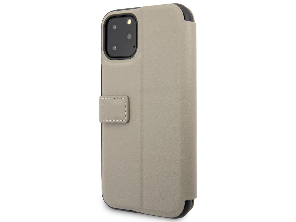 BMW Signature Bookcase Taupe Leer - iPhone 11 Pro hoesje