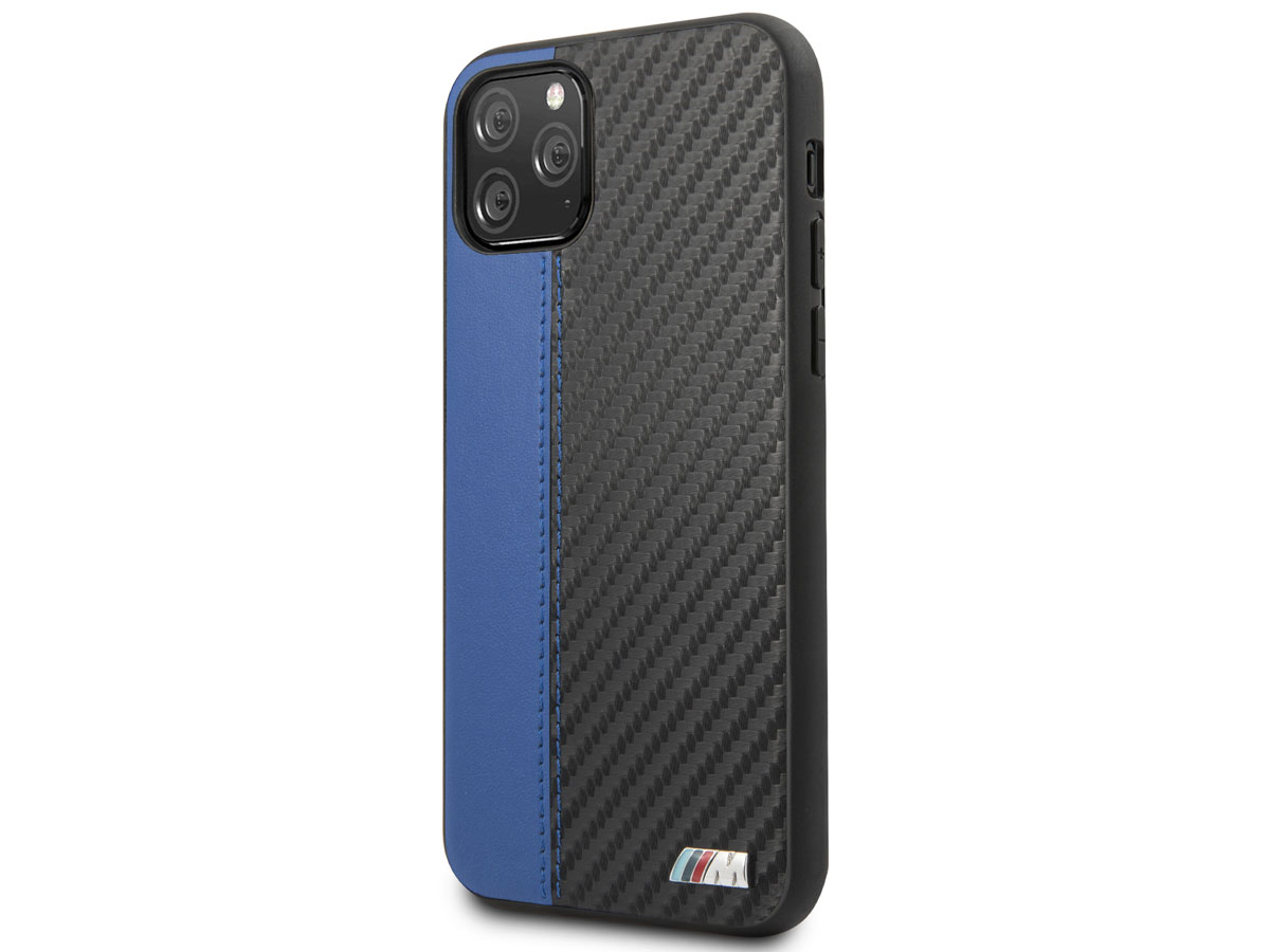BMW M Sport Stitched Case Blauw - iPhone 11 Pro hoesje