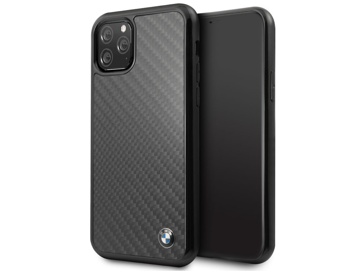 BMW Signature Carbon Fiber Case - iPhone 11 Pro hoesje Zwart