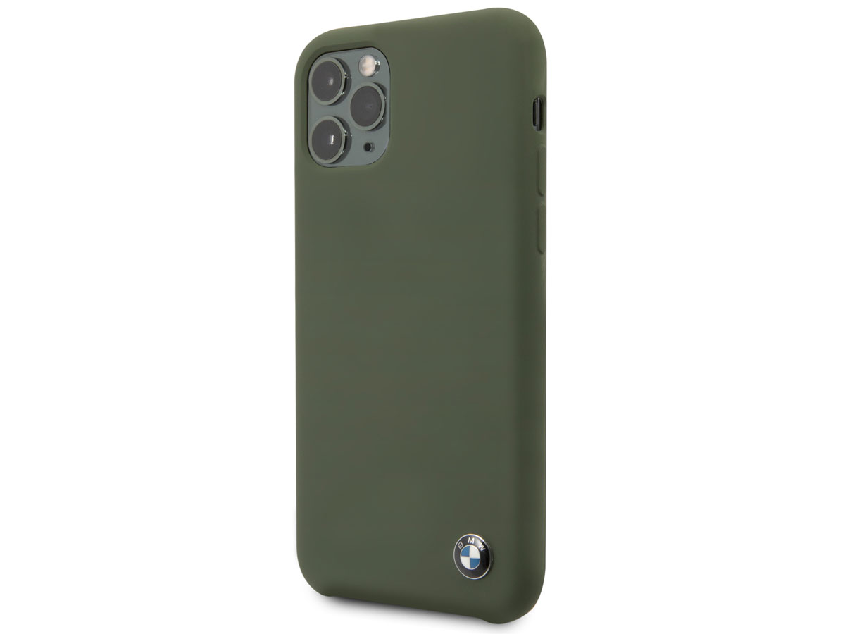 BMW Signature Silicone Case Groen - iPhone 11 Pro Hoesje
