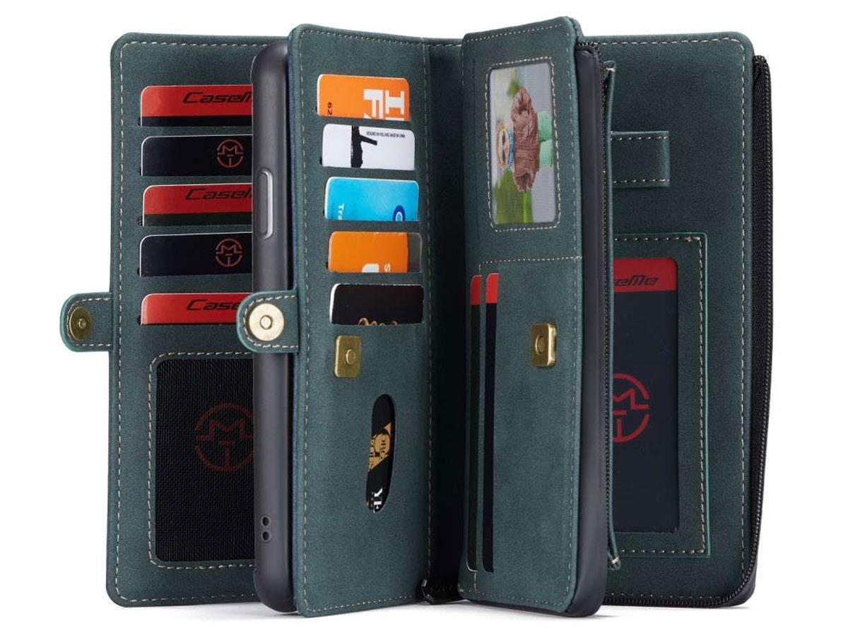 CaseMe Multi Wallet Ritsvak Case Blauw - iPhone 11 Pro Hoesje