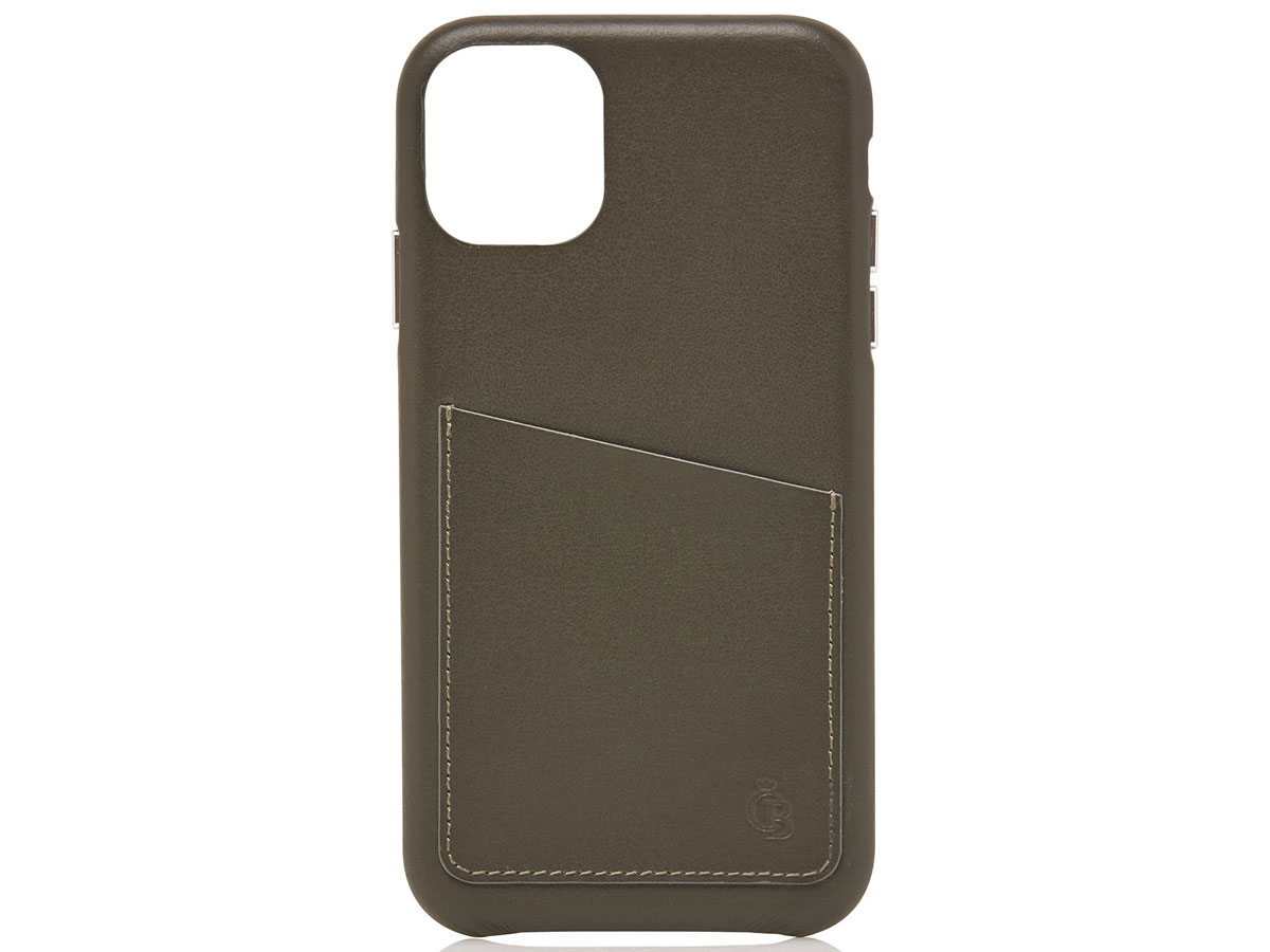 Castelijn & Beerens Back Case Groen Leer - iPhone 11 Pro hoesje