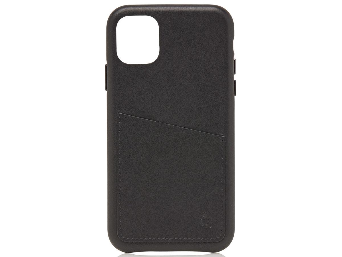 Castelijn & Beerens Back Case Zwart Leer - iPhone 11 Pro hoesje