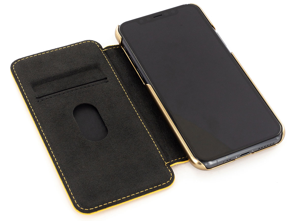 Greenwich Blake Folio Canary/Gold - iPhone 11 Pro Hoesje Leer